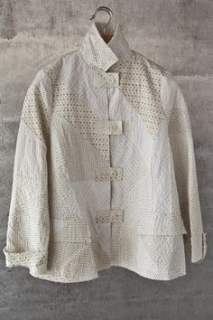Light linen ikat patch jacket | Asiatica