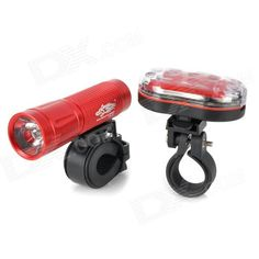L22 Cree XP-E Q5 White Light Bike Flashlight   Tail Safety Light - Red Price: $14.72