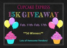 15k giveaway!  Over 56 awesome prizes up for grabs!
