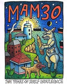 YES. A feast for the eyes and ears with the largest retrospective of Mambo art ever. Opening and street party tonight @newcastle_art_gallery. Come down- it's going to be epic!