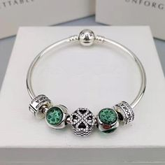 Now available in our store: pandora green cha...check it out here! http://www.charmsilvers.com/products/pandora-green-charm-bracelet-5-pcs-charms?utm_campaign=social_autopilot&utm_source=pin&utm_medium=pin