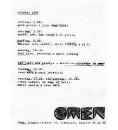 Omen Closing Party Flyer October 1998