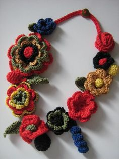 CROCHET JEWELRY  MULTICOLOR by Suzann61 on Etsy