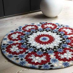 nomadic circular wool rugs nom02 red blue buy online from the rug seller uk
