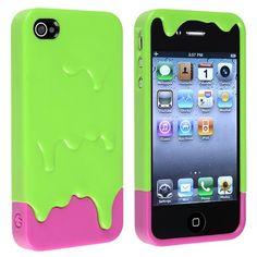 Green ooze iPhone 4S hard case.