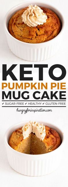 Can you believe this Pumpkin Pie Keto Mug Cake actually Low Carb? But it is an actual Keto Dessert with only net carbs per serving that tastes just like real pumpkin pie! Make yourself a well deserved Keto Snacks & Low Carb Dessert Keto Desserts, Keto Friendly Desserts, Keto Dessert Easy, Keto Snacks, Dessert Recipes, Cake Recipes, Christmas Desserts, Breakfast Recipes, Christmas Treats