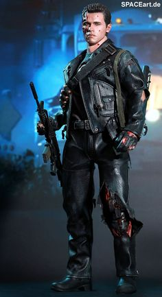 Terminator 2: T-800 Battle Damaged, Voll bewegliche Deluxe-Figur ... http://spaceart.de/produkte/te020.php