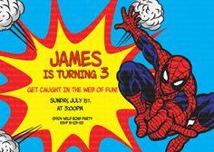 Spiderman Birthday Party invitation by PishPesh on Etsy, $11.90