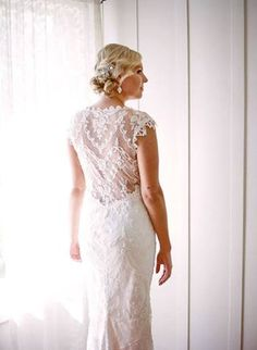 lace back wedding dress. This is what I want