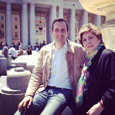 With Paloma Gómez Borrero. #italy #connexiójuníper #conexiónjunípero #juniper300 #juniperoserra #ib3 #tve