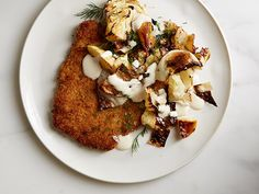 Breaded Pork Chops with Warm Apple-Cabbage Slaw