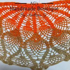 🧡 🧡 Find us also on Pineapple Pattern, Crochet Shawl, Orange, Crocs, Facebook, Instagram, Handmade, Color, Hand Made