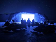 """A movie in an #iceberg... so surreal, but not as much as the #ice opening in """"One hundred years of solitude""""! :)"""