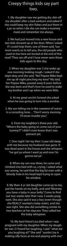 Creepy Things Kids Say Parts 1 & 2 - Seriously, For Real?