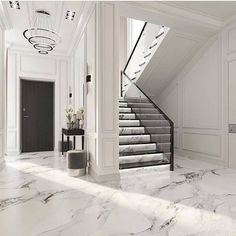Wall Panelling Done Right? The Effective Pictures We Offer You About home design cheap ideas A quali Dream House Interior, Luxury Homes Interior, Luxury Home Decor, Home Interior Design, Modern Townhouse Interior, Modern Classic Interior, Interior Livingroom, Home Stairs Design, Dream Home Design