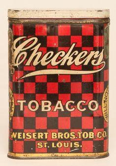 Checkers Tobacco Tin