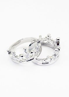 Zeta Tau Alpha Sterling Silver Crown Ring set with CZs