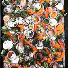 cuisinedemememoniq:  Plaque pour le four de légumes à griller :...