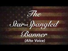 The National Anthem (USA) - Star Spangled Banner Piano Track  | Alto Voice