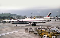 Delta Airlines MD-11 N802DE is pictured at Frankfurt, August 28th 1994 - The aircraft was converted to a Freighter and is now with UPS.