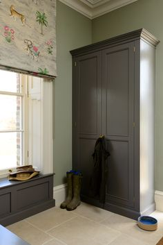 A beautiful big Classic English Pantry Cupboard by deVOL
