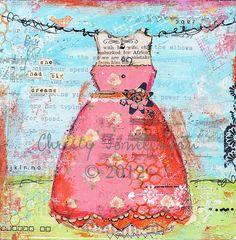 She had big dreams Christy Tomlinson Mixed Media CANVAS Print