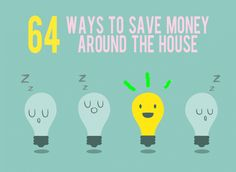 64 ways to save money around the house. Lots of advice here on saving money!
