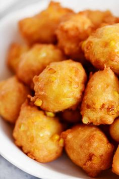 Canned Corn Recipes, Corn Fritter Recipes, Fried Corn Recipes, Recipes With Corn, Veggie Recipes, Corn Nuggets Recipe, Corn Bites Recipe, Sweet Corn Fritters, Recipe For Corn Fritters