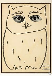 The great snow owl by Pablo Picasso