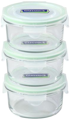 Amazon.com: Kinetic Go Green Glasslock Series Rectangular 37-Ounce Food Storage Container Set With Lids 01329, 6-Piece: Kitchen Storage And Organization Product Sets: Kitchen & Dining