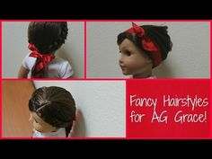 Julies Hair Styling Set Tutorial American Girl YouTube - Doll hairstyles for grace