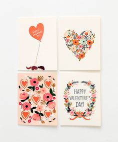 anna rifle bond paper co hand illustrated valentine's day boxed notes flower illustration i love you balloon flower heart floral wreath denver