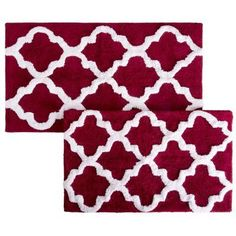 Bring life to your bathroom with the premium Cotton Trellis Bathroom Mat Set. The Trellis pattern brings a European regal look right to the bathroom. This bath mat feels as luxurious as it looks.