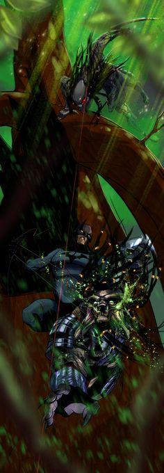 Batman VS Predator by UltimateTattts.deviantart.com on @deviantART