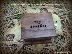 music box musicbox best man gift maid of honor by Simplycoolgifts, $49.00 Wooden Music Box, Maid Of Honor, Songs, Unique Jewelry, Handmade Gifts, Etsy, Color, Maid Of Honour, Kid Craft Gifts