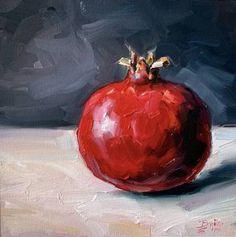 Pomegranate Painting by Catherine Braiko | Saatchi Art