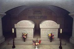 """In the New Vault of the Imperial Crypt, is a memorial tablet to """"the first victims of the World War 1914 – 1918"""", Archduke Franz Ferdinand, son of Archduke Karl Ludwig, and to his wife Countess Sophie of Chotkova and Wognin. The couple are actually buried in this crypt in Artstetten Castle, in lower Austria."""