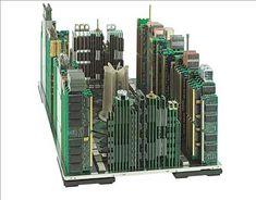 コンピューター部品で作られた街「Computer parts Skylines」