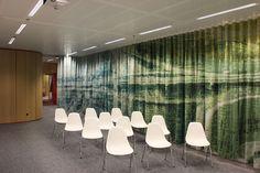 APTO Architects, interior design of Schiphol Area Development Company #round #flow #modern #design #office #interior #curtain