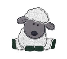 Sheep Applique Machine Embroidery Design-INSTANT by SewChaCha