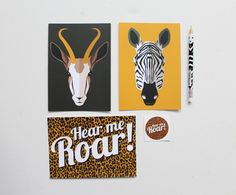 Postcard, sticker and pencil set - we love creating stationery at Boxcitement!