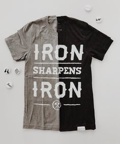 As iron sharpens iron, so one person sharpens another. This shirt features such an encouraging reminder, and is so easy to style! As seen on Tim Tebow, Steph Curry, Russell Wilson, Kevin Durant, Russell Okung, and many more!