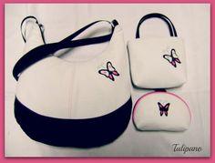 Pillangó szett több szinben - Tulipano kézműves táskái. Pillangó táskaszett a65ef09a3c