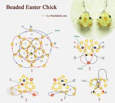 Beaded Easter Chicks