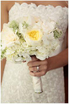 All White Bridal Bouquets