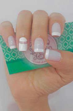 Uñas Glam Nails, Beauty Nails, Cute Nails, Pretty Nails, My Nails, Simple Acrylic Nails, Short Nails Art, Manicure E Pedicure, Nail Decorations