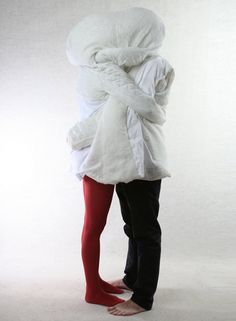 Wearable duvet for two? Sewn As A Site by Danica Pistekova