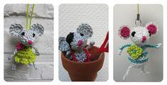 Muisje haken [Crochet a little mouse] {Crochet un petite souris} Amigurumi Doll, Amigurumi Patterns, Crochet Patterns, Crochet For Kids, Free Crochet, Knit Crochet, Crochet Monsters, Crochet Animals, Woolen Craft