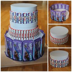 Urodzinowy tort bez pieczenia – pomysł na prezent Candy Birthday Cakes, Bff Birthday Gift, Birthday Basket, Diy Birthday Cake, Candy Cakes, Candy Bouquet Diy, Diy Bouquet, Easy Diy Gifts, Cute Gifts