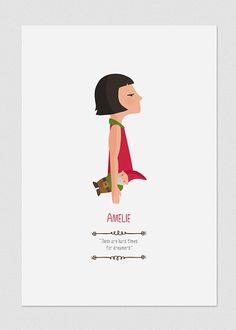 Ilustración. Amélie. Basada en la película de por Tutticonfetti